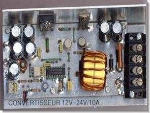 DC DC Boost Converter Circuit 12V to 24V 10A SG3524 PWM