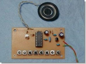 Simple Melody Circuit with PIC16F84A DO-RE-MI-FA