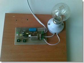 Transformerless 220V Lamp Flasher Circuit 555