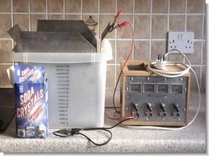 Electrolysis Rust Removal Sodium Carbonate Electricity