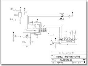 DS1820 Temperature Sensor Circuit PIC16F84 Assembly