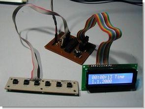 PIC18F2455 LCD Clock