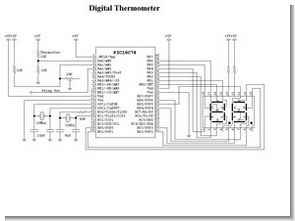 PIC16C74 NTC Thermometer Circuit