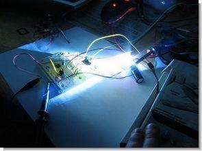 Digital camera flash, continuous light modified