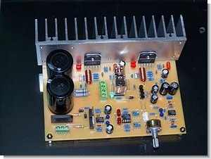 Speaker Protected LM3886TF Stereo  Amplifier Circuit