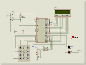 ADC0831  8051 LM35 Temperature Control with LCD Screen