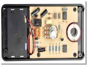 Simple metal detector circuit in walls for metals