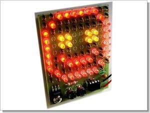 10×10 LED Blinking 555 Flip Flop Circuit