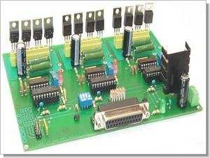 3-Axis PC Parallel Port Stepper Motor CNC Control Circuit