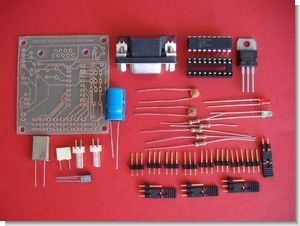 PC Servo Motor Control with PIC16F84 RS232