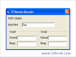 TV Remote Control Decoder Circuit with PIC16F628 Visual Basic