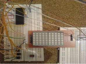 CCS C Matrix LED Display Snake Game Circuit PIC16F877 Microcontroller