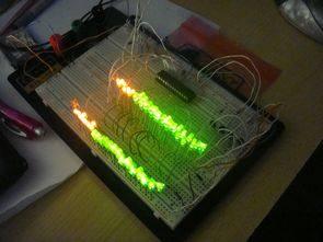 Stereo 64LEDs VU Meter Circuit Atmega8