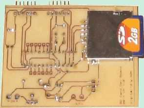 PIC18F2520 SD MMC Development Board Circuit