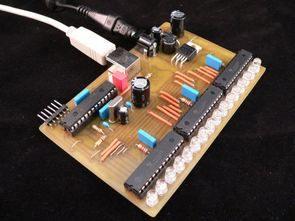 RGB VU Meter LED Circuit USB PWM PIC18F2550 TLC5940