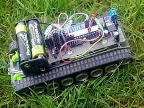 Tank Robot ATMEGA48 Bluetooth java Project