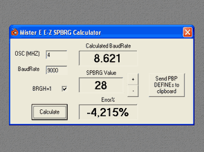 Baud Rate Calculation Program PICbasic Pro