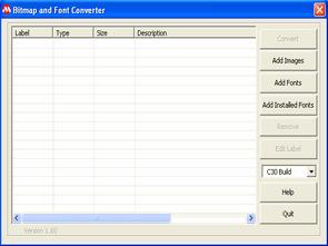 Bitmap to Font Converter Microchip  C30 C32