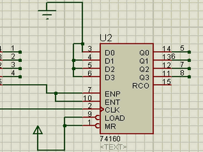 BCD Counter 74LS160 Serial Connection Example Circuit