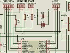 ATMega8 Bipolar Stepper Motor Driver Circuit L293B