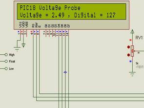Digital Voltage Probe PIC18F242