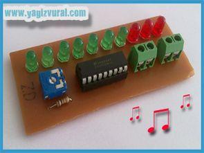 10 LED VU Meter Circuit LM3915