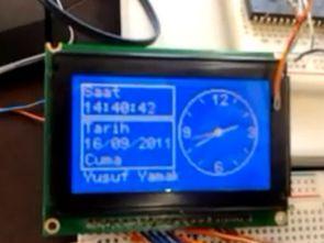 Digital Analog Graphic LCD Clock Circuit MCB1700 LPC1768
