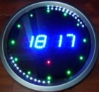 PIC16F648 Led Animated Clock Circuit Picbasic
