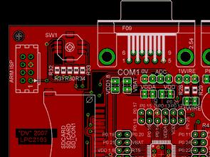 LPC2103 ARM development board