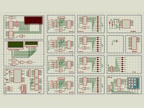 AT89C52 isis Proteus Simulation Test Set
