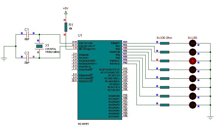 led-walking-led-light-ccs-example-pic16f877-led