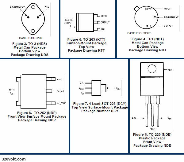 Lm317 Calculator lm317 connection diagrams pin out