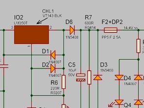 14.4V Charger Circuit Lead-Acid Batteries LM350T