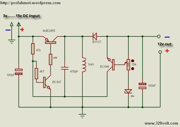 simple boost regulator circuit diagram tradeoficcom electricalto 15v dc to dc converter electronic circuits and diagram 12 19regulated buck boost dc dc