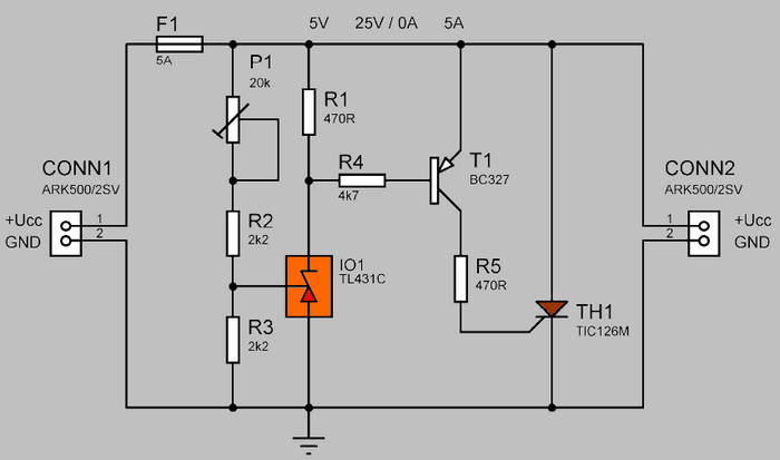 surge protection circuit thyristor tic126