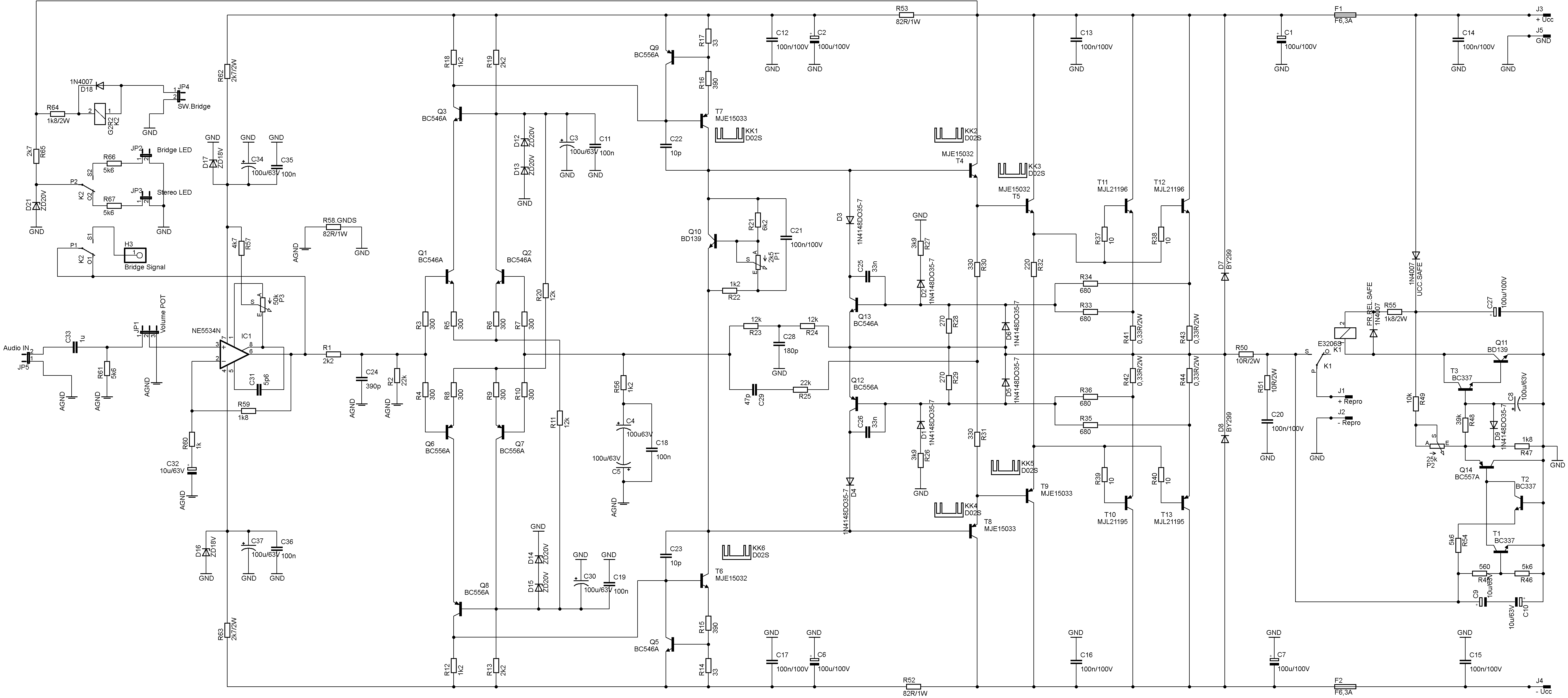 Rms 2x200w Amplifier Circuit Mjl21196 Mjl21195 Electronics Dj Wiring Diagram Multiple Schematic
