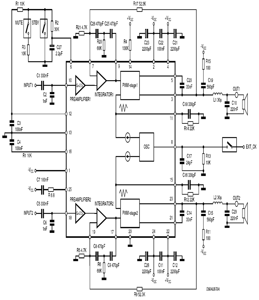 Tda7490 Class D Amplifier Project Electronics Projects Circuits 25w Hifi Audio With Mosfet Circuit Diagram Schematic 120x120