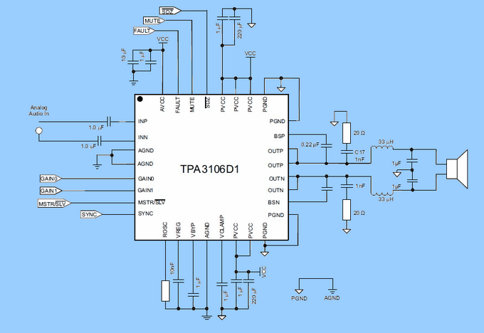 TPA3106D1 Class D Power Amplifier Projects  Ecc83 JCM800 Preamp audio amplifier tpa3106 d1 circuit schematic
