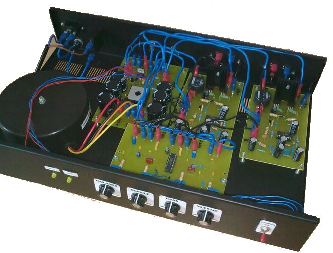 IRS2092 Class D Amplifier Circuit LM1036 Tone Controlled irs2092 audio amplifier class d pwm modulation