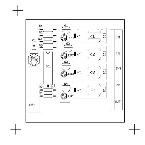 Rotary Switch Circuit Diagram | Audio Input Selector Circuit Electronics Projects Circuits