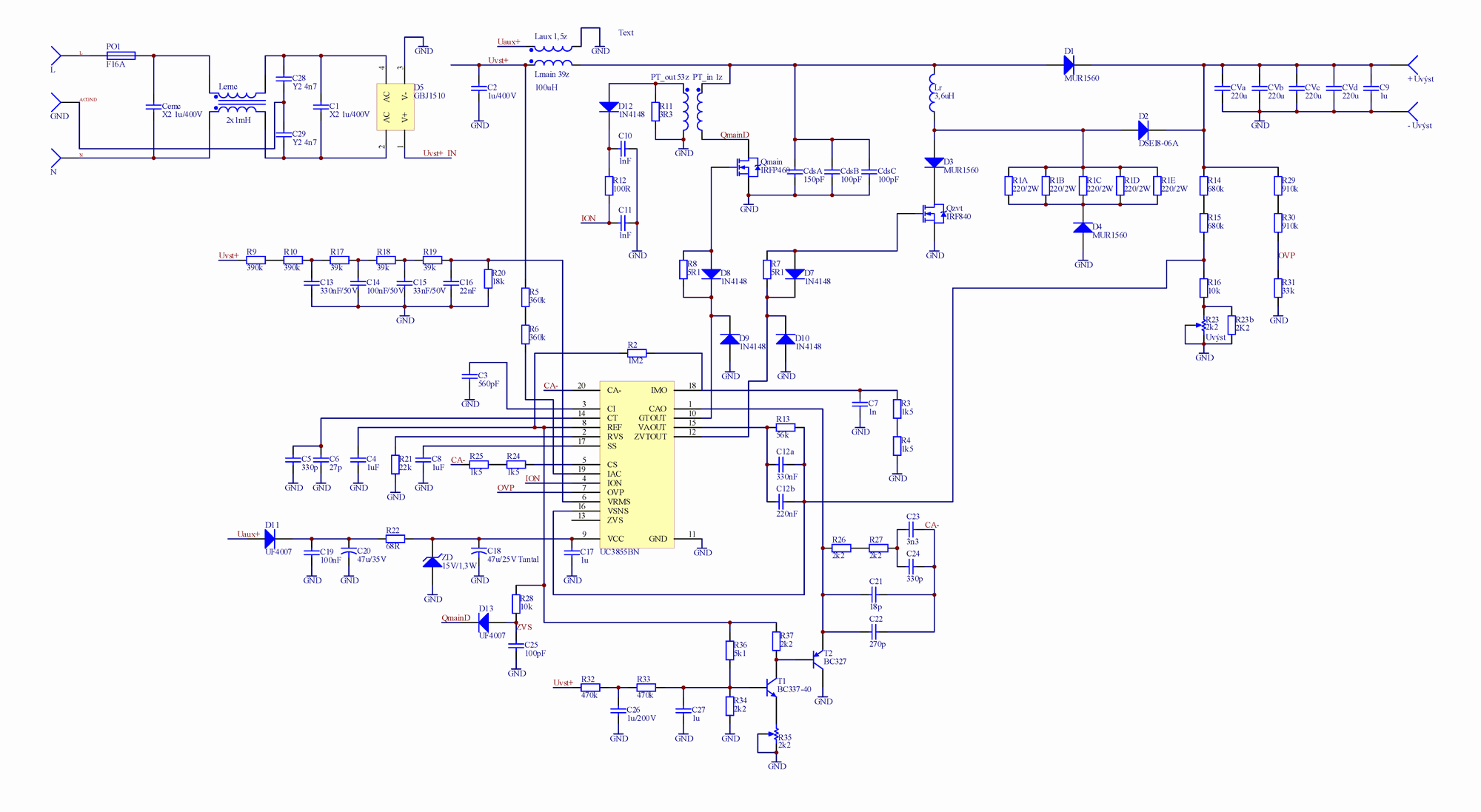 Circuit Diagram Of Amplifier 1000w Wire Data Schema Power Images Pfc Uc3855 Electronics Projects Circuits