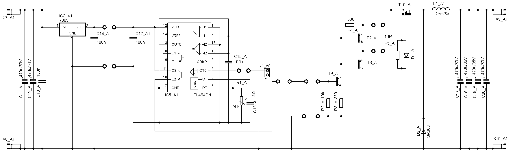 Switching Laboratory Power Supply 0 30v 5a Tl494 Buck Converter Battery Charge Current Indicators Controlcircuit Circuit Diagram Schematic Dc Stabilized