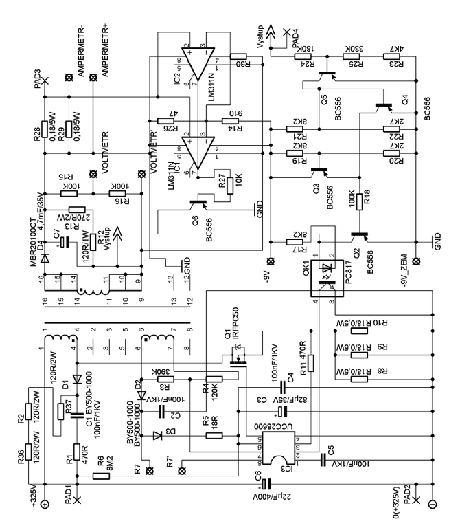 smps power supply schematics