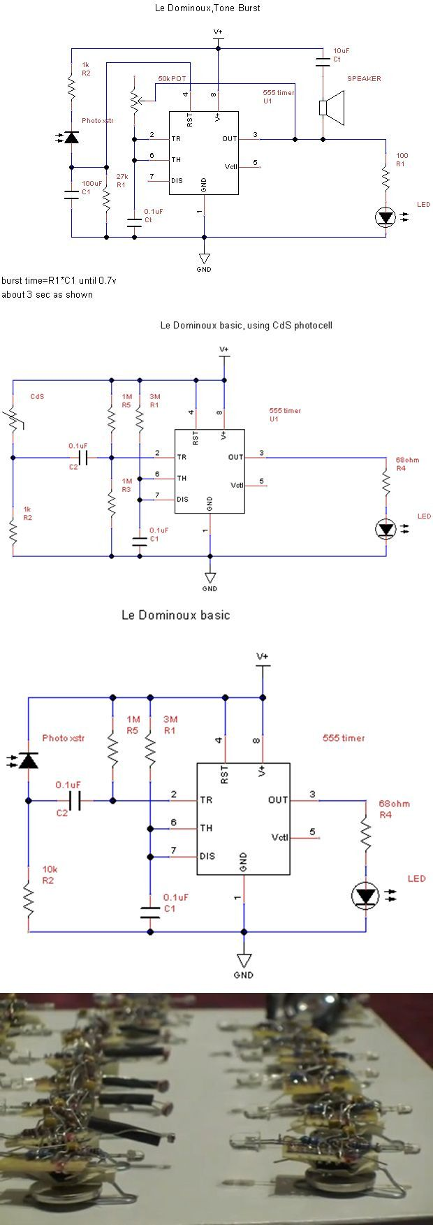 The Domino Effect With 555 Circuit Electronics Projects Circuits Lm555 Timer Dominos Vert