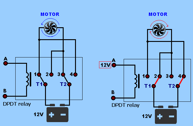 SPDT    Relay    and DPDT    Relay     Electronics Projects Circuits