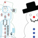 ATtiny2313 LED Animated snowman