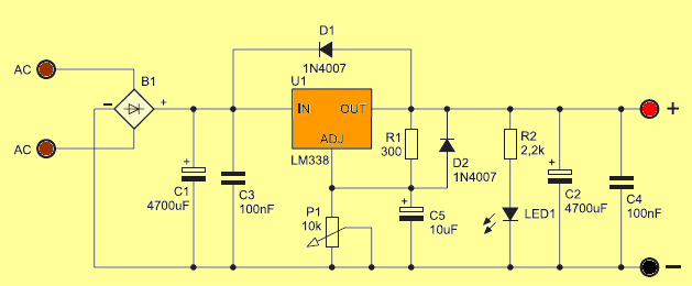 Power Control Circuit Diagram For 78xx Regulator Controlcircuit