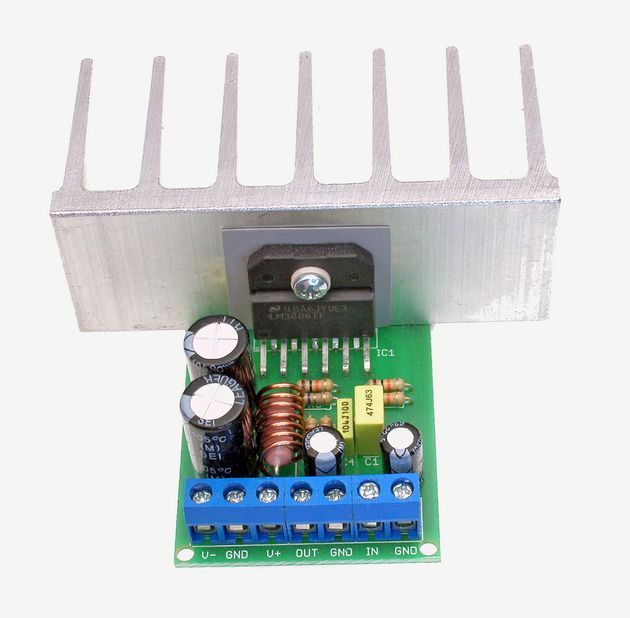 LM3886 Amplifier Module mono power module based on lm3886 application