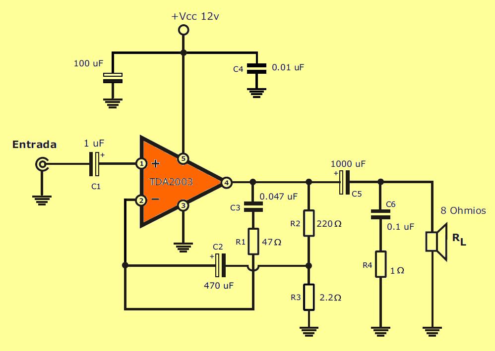 tda2003-amplifier-schematic