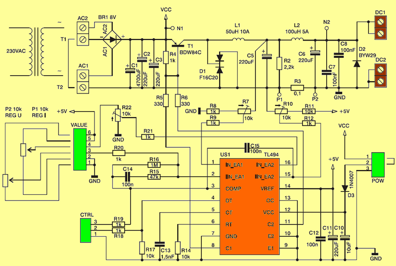 dc-dc-adjustable-power-supply-circuit-schematic